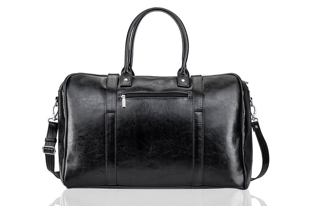 Black leather men`s weekend bag HAMILTON BLACK [eng] | Men`s Bags ...