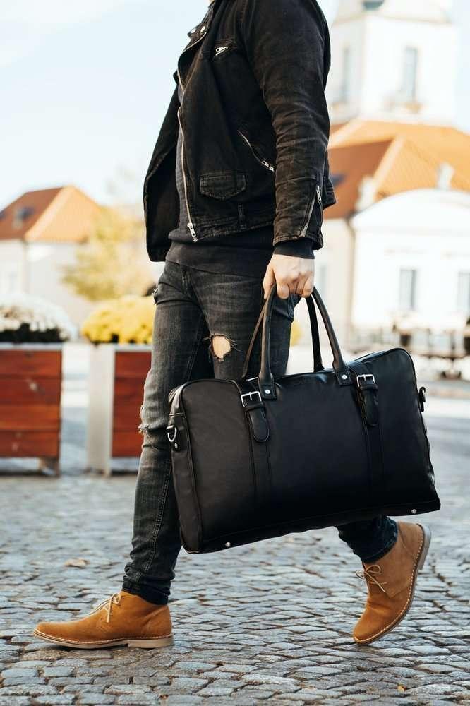 Black men's weekend bag SOLIER S16 Black | Men`s Bags \ Weekend ...