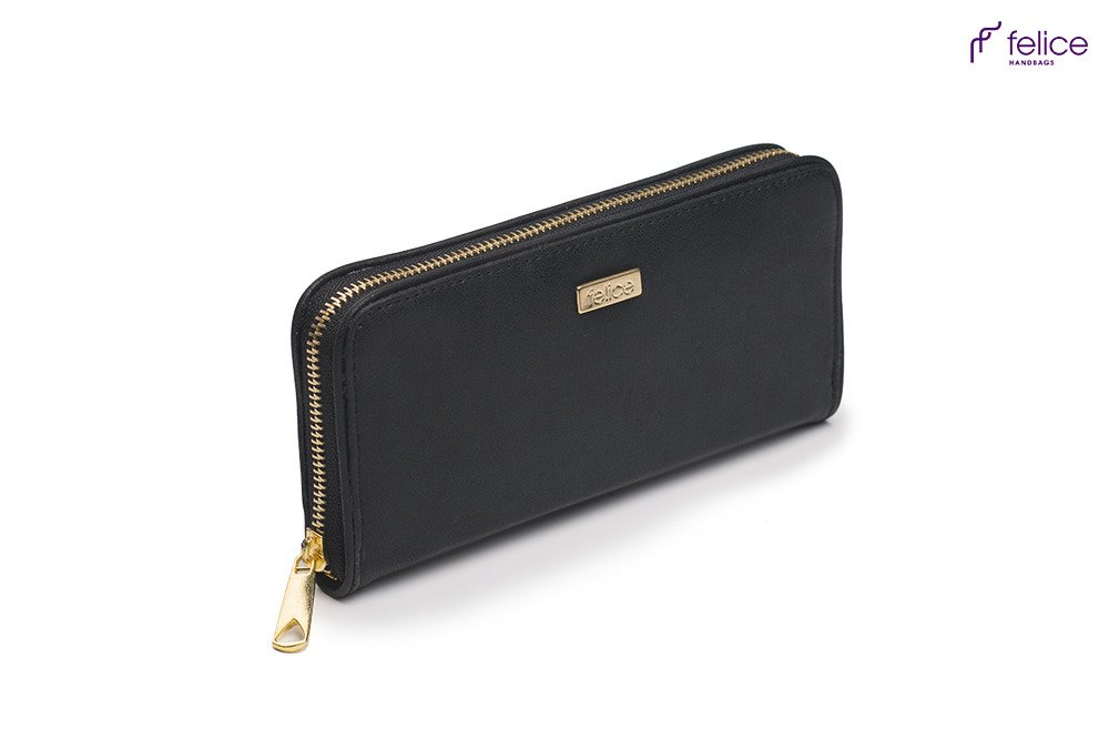 elegant womens wallet p03 black dubai online wholesale