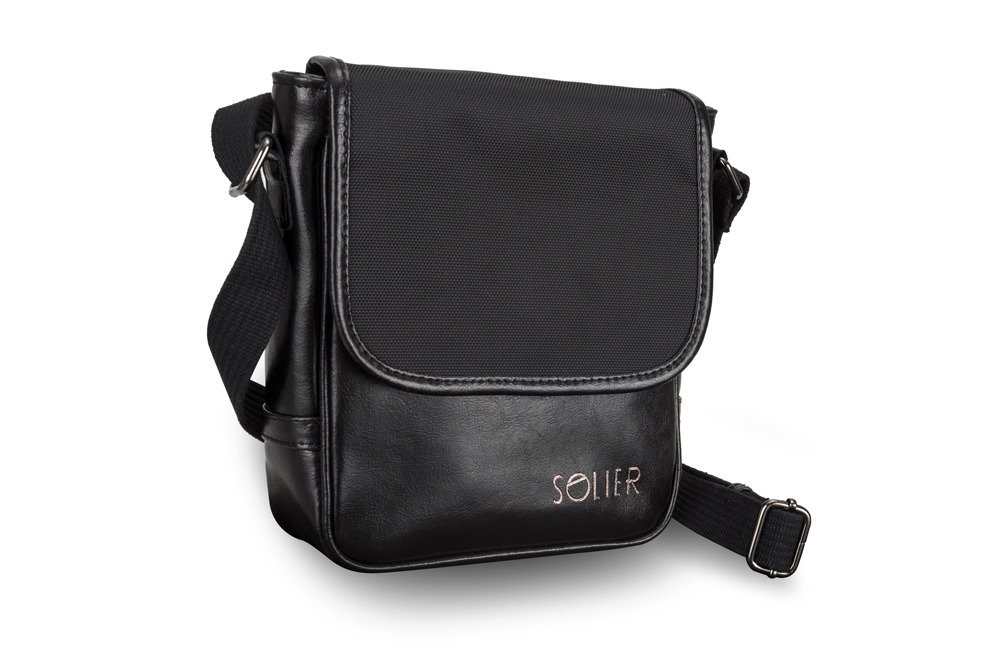 MEN'S GENUINE LEATHER SHOULDER BAG SL07 BLACK Black | Men`s Bags ...
