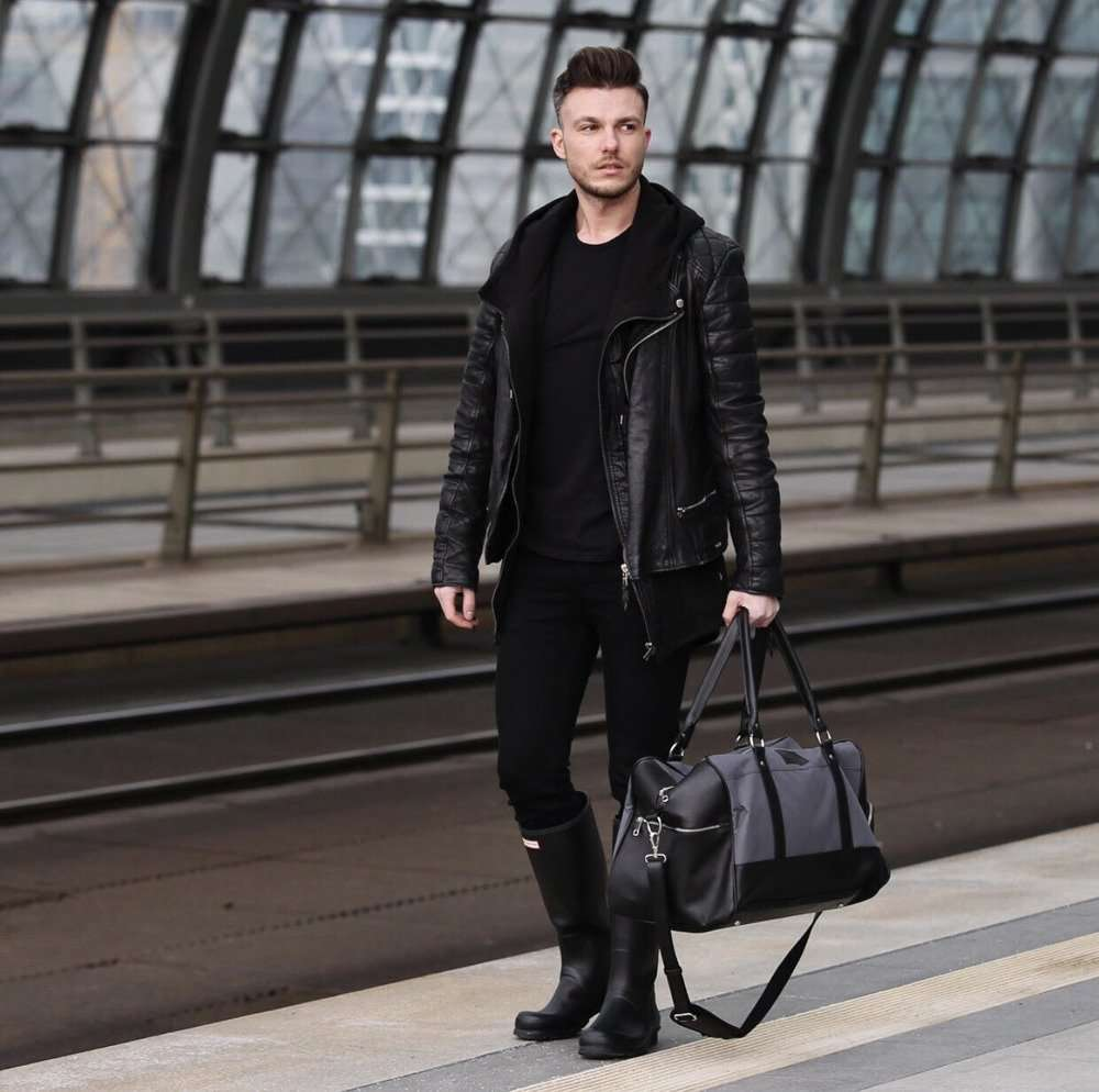 Sport men's weekend bag Solier GOVAN black Black | Men`s Bags ...