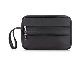 LEATHER MAN'S CLUTCH BAG MILTON ML45 BLACK