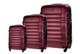 SUITCASE SET | STL838 ABS METALIC BURGUNDY