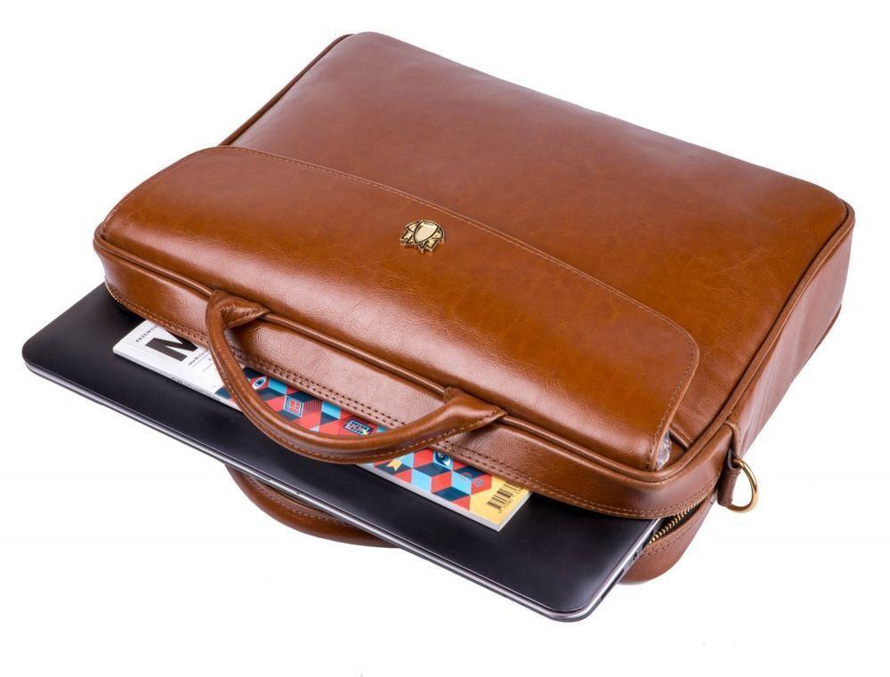c0de20adb3bae4 ... Genuine leather woman's laptop bag FL16 Sorrento vintage brown ...