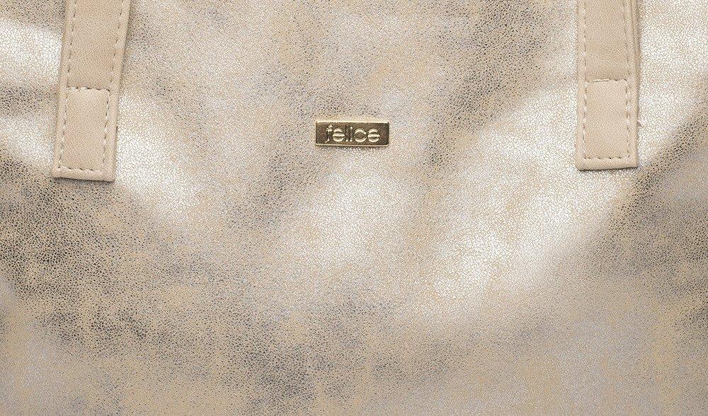 da4c66a59e40f Shopper bag Felice Verona Uno - gold - online wholesale platform Merlitz