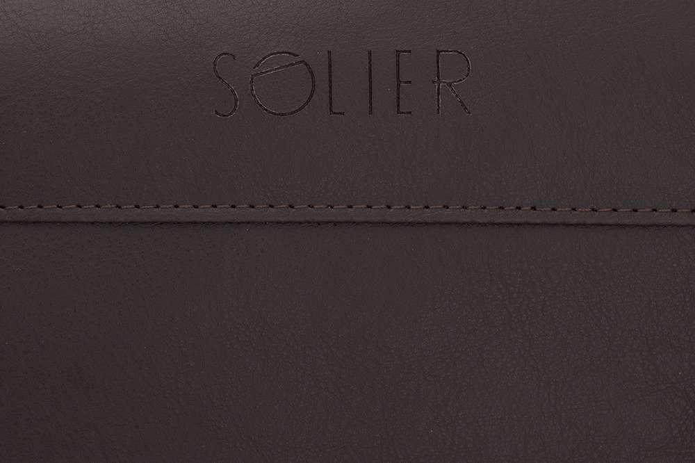 9dd2b928f6 Sport men s weekend bag Solier GOVAN dark brown - online wholesale ...