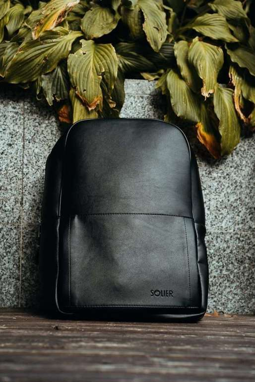 Black men's backpack  Solier FORRES