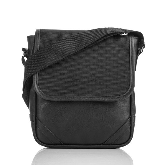 Black shoulder iPad case S07