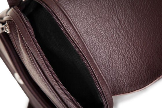 Brown leather messenger Ipad case SL32