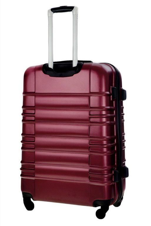 Cabin luggage ABS 55x37x24cm STL838 metalic burgundy