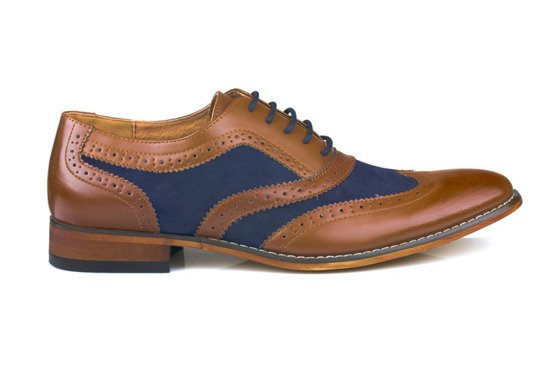 Classic brown men's Gibson shoes - Oxford style