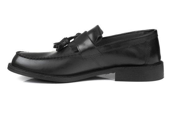 Classic men's black Gibson shoes - Oxford style