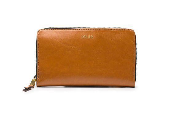 Elegant Women's leather wallet Solier P01