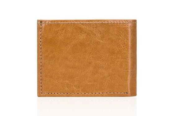 Elegant light brown leather wallet SOLIER SW06