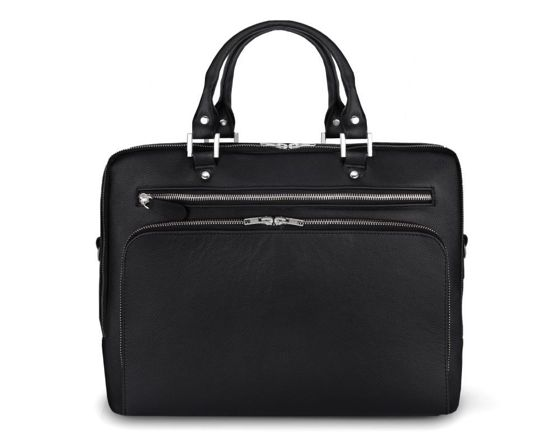 Genuine leather laptop bag Solier SL24 Shannon black