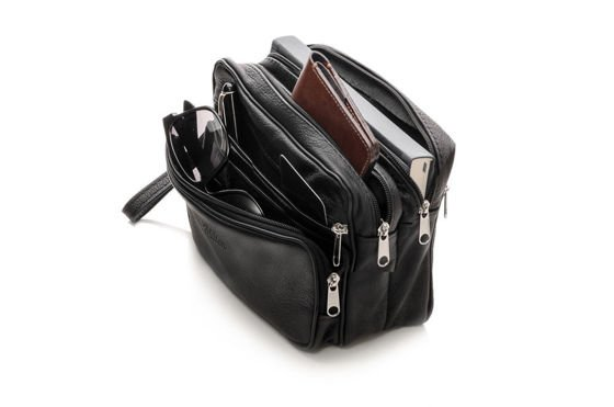 LEATHER MAN'S CLUTCH BAG MILTON ML31 BLACK