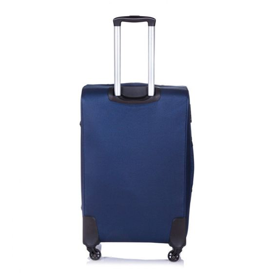 Large soft luggage L Solier STL1311 navy-brown