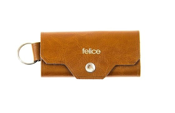 Leather men's key holder FELICE FA11 CAMEL