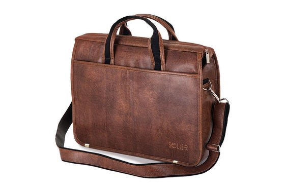 Light brown shoulder laptop bag S13