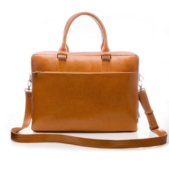 Men's leather shoulder bag Solier SL01 DUNDEE