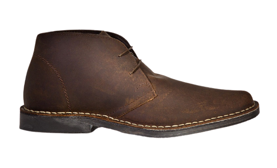 Men's stylish leather Chukka shoes boots brown