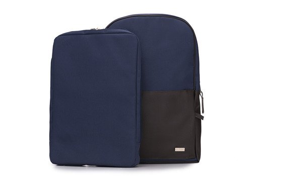 Navy-brown men's backpack  Solier FORRES