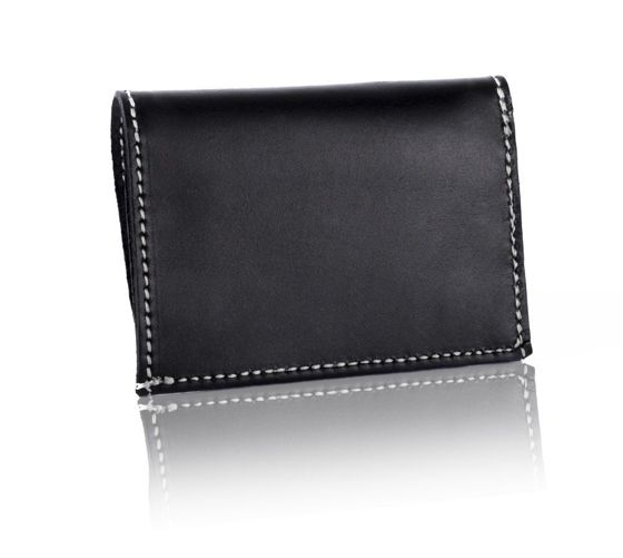 Slim leather men's card holder SOLIER SW18 BLACK VINTAGE