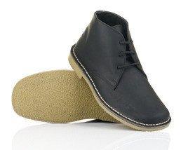 b55f2345dadcb Męskie czarne skórzane buty Chukka