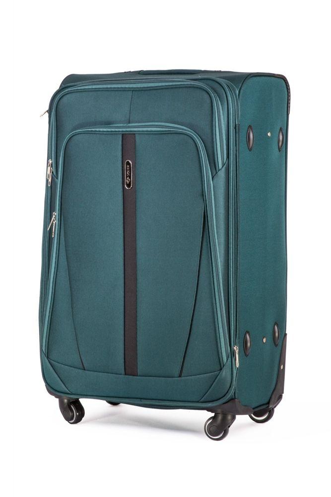 6e4fc96859325 Duża walizka miękka L Solier STL1706 zielony - hurtownia internetowa ...