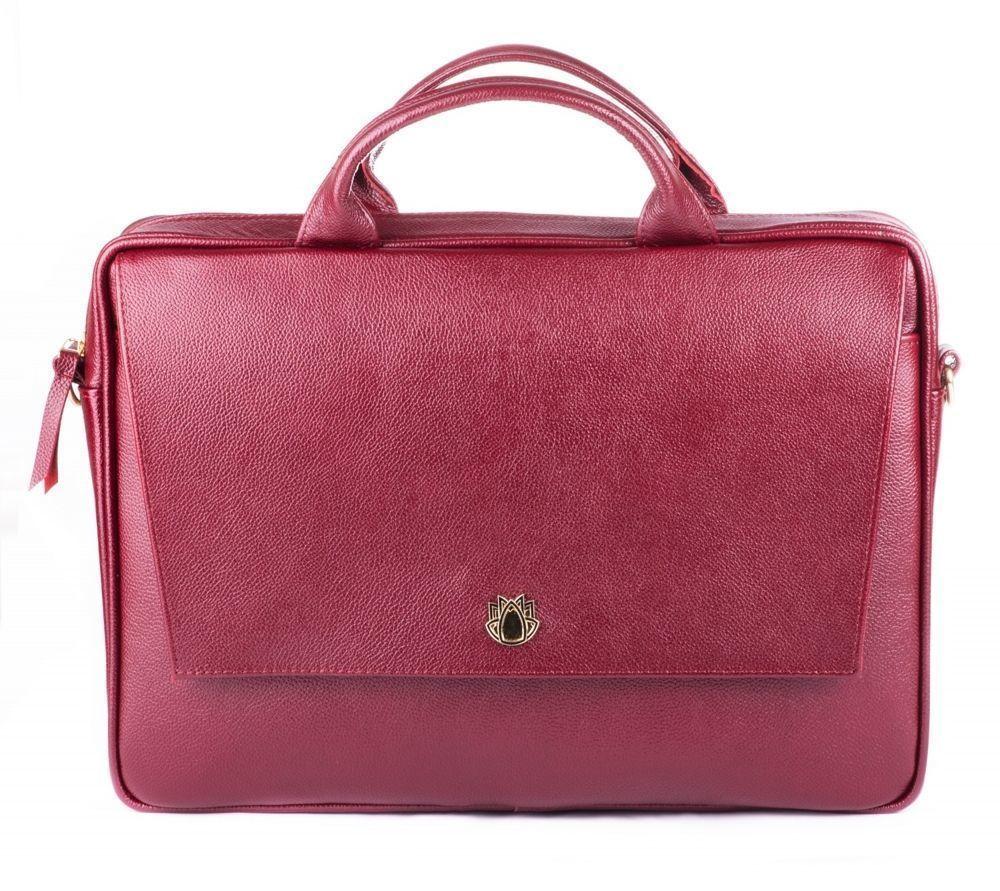 836c13e68d6c2 Skórzana torba na laptopa FL14 Rimini burgundowa - hurtownia ...