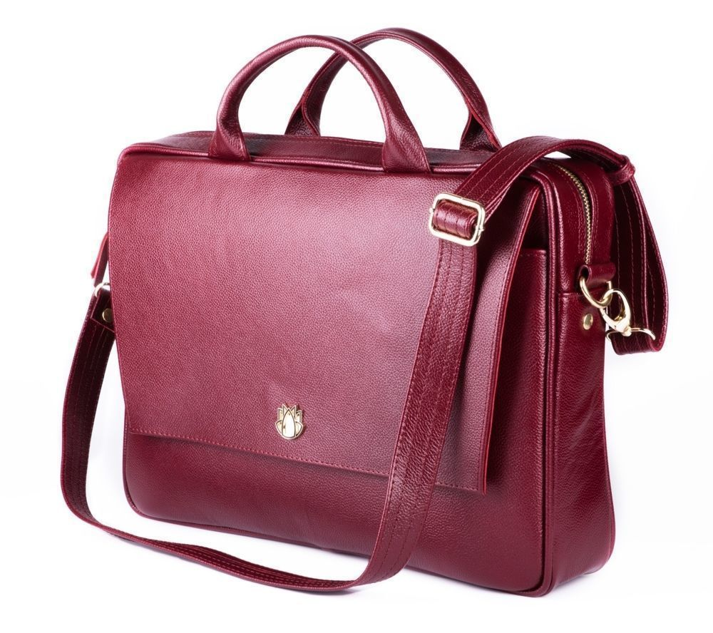 875775c86975e Skórzana torba na laptopa FL14 Rimini burgundowa - hurtownia ...