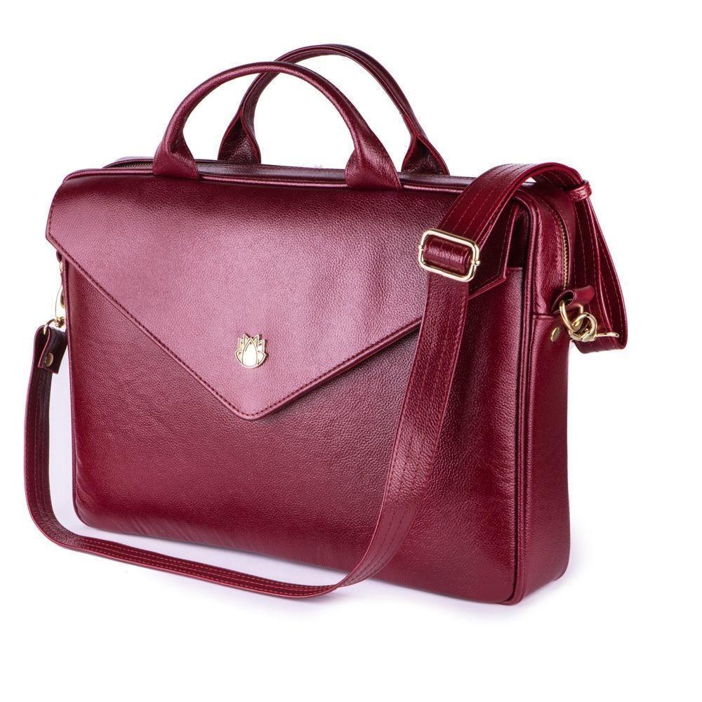 78109255ffe1f Skórzana torba na laptopa FL15 Positano burgundowa - hurtownia ...