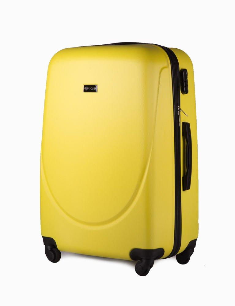 63cdec7c0abd5 Walizka podróżna duża stl310 abs żółta · Zestaw walizek podróżnych 4w1  STL310 żółta ...