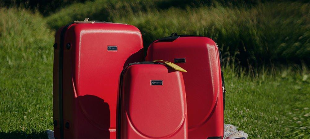 50a7bbe288bf9 Zestaw walizek podróżnych stl310 abs czerwony - hurtownia ...