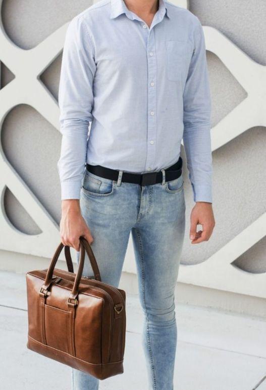 Elegancka skórzana męska torba ramię Solier ABERDEEN SL02