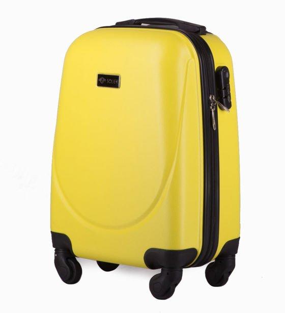16cffec812541 ... Zestaw walizek podróżnych 4w1 STL310 żółta  Walizka kabinowa XS stl310  abs żółta ...